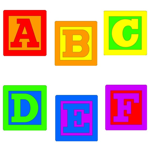 baby blocks alphabet clip art rh etsy com baby building blocks clipart baby girl blocks clipart