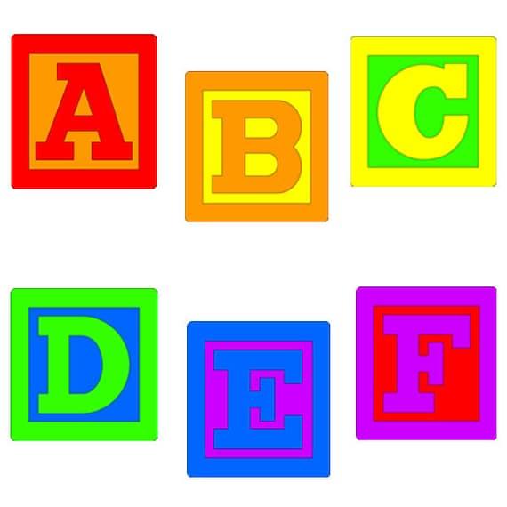 baby blocks alphabet clip art rh etsy com clip art alphabet fonts clip art alphabet letters free