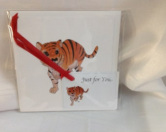 Novalty Tiger Card and Gift Tag