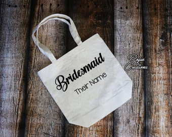 Bridesmaid/ Tote Bag/Personalize/ Wedding Gift/ Custom tote bag/ Grocery Tote/ Project Bag/ Shopping Bag/ Canvas Tote/ Eco Friendly