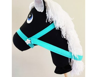 Handmade monochrome black and white Hobby Horse pony