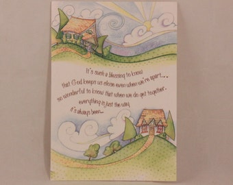 NEW! Vintage Such a Blessing by Dayspring Greeting Card and Envelope.