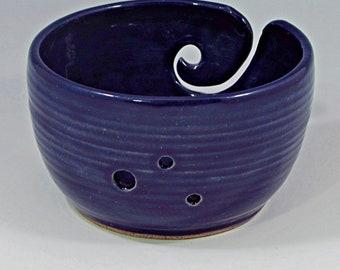 yarn bowl in cobalt
