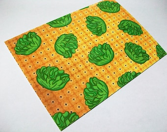 Butter Lettuce Food Pattern Postcard