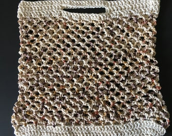 Cotton crocheted bag