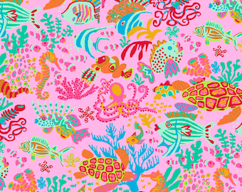 Spring 2018 by Brandon Mably - Scuba - Pink - Fat Quarter cotton quilt fabric