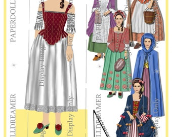 Printable Paper Doll – Lydia Gulliver 'Molly Pitcher' Ancestor