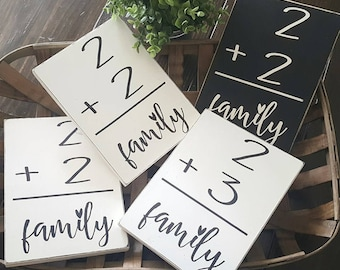 Family Flashcard Sign.Personized. Wood Sign. Block sign Wood decor. Home. Fixer Upper. Gallery wall. Family. Family number.