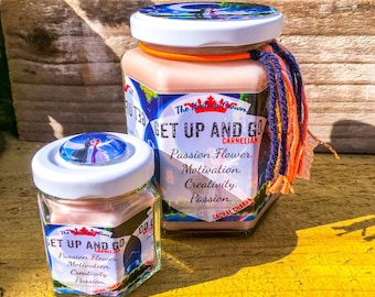 Get Up and Go Carnelian Healing Crystal Pure Soy Wax Candle
