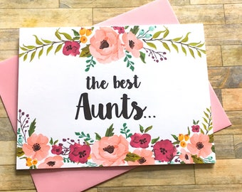 Pregnancy Announcement Card - Pregnancy Reveal to Aunt Card - New Great Aunt Announcement - Having a Baby Card - I'm Pregnant - MULBERRY