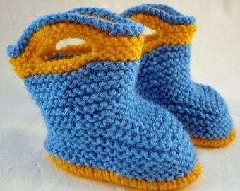 Knitting Pattern Baby Boots, Knit Baby Boots pdf Pattern, Knitted Baby Booties pdf, Instant Download Baby Boots Pattern SPLISH SPLASH SPLOSH