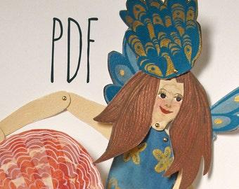 Mermaid with Shell PDF / illustration by Emma Kidd