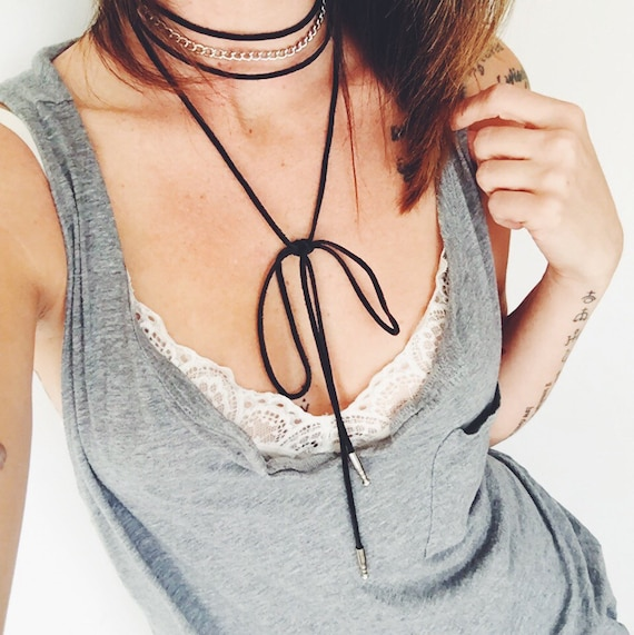 Hells Bells Leather Wrap Choker