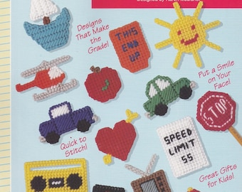 Pencil Pals Toppers, The Needlecraft Shop Plastic Canvas Pattern Booklet 903703