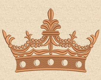 Crown Embroidery Design Machine Embroidery Design Victorian Crown Royal Crown Digital Pattern Instant download