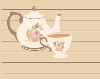 Tea Party- A5 Stationery - Writing Paper