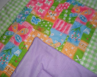 Crib, comforter, tummy time  quilt