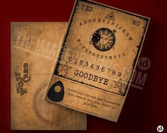 Ouija board postcard