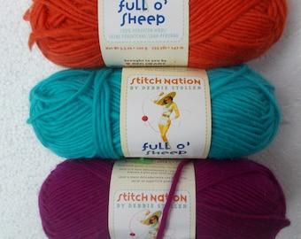 3 skeins Stitch Nation full o' sheep wool yarn