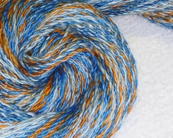 Talking Skies - 140 yards - 2 Ply - Hand spun - Art yarn - Felting - Weaving - Knit - Crochet - Mixed Media - Fiber Arts - Textiles - Crafts