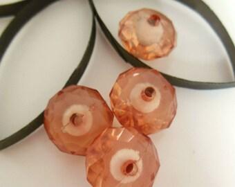 set of 3 plastic beads
