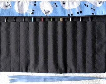 Sheep Crochet Needle Bag x 1 ( Sky Blue )