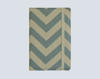 Kindle Cover Hardcover, Kindle Case, eReader, Kobo, Kindle Voyage, Kindle Fire HD 6 7, Kindle Paperwhite, Nook GlowLight Chevron Blue
