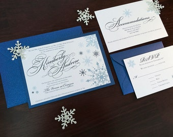 Frozen Winter Wedding Invitation