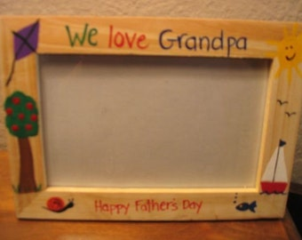 Father's Day photo frame WE LOVE GRANDPA - Daddy Fathers Day photo picture frame