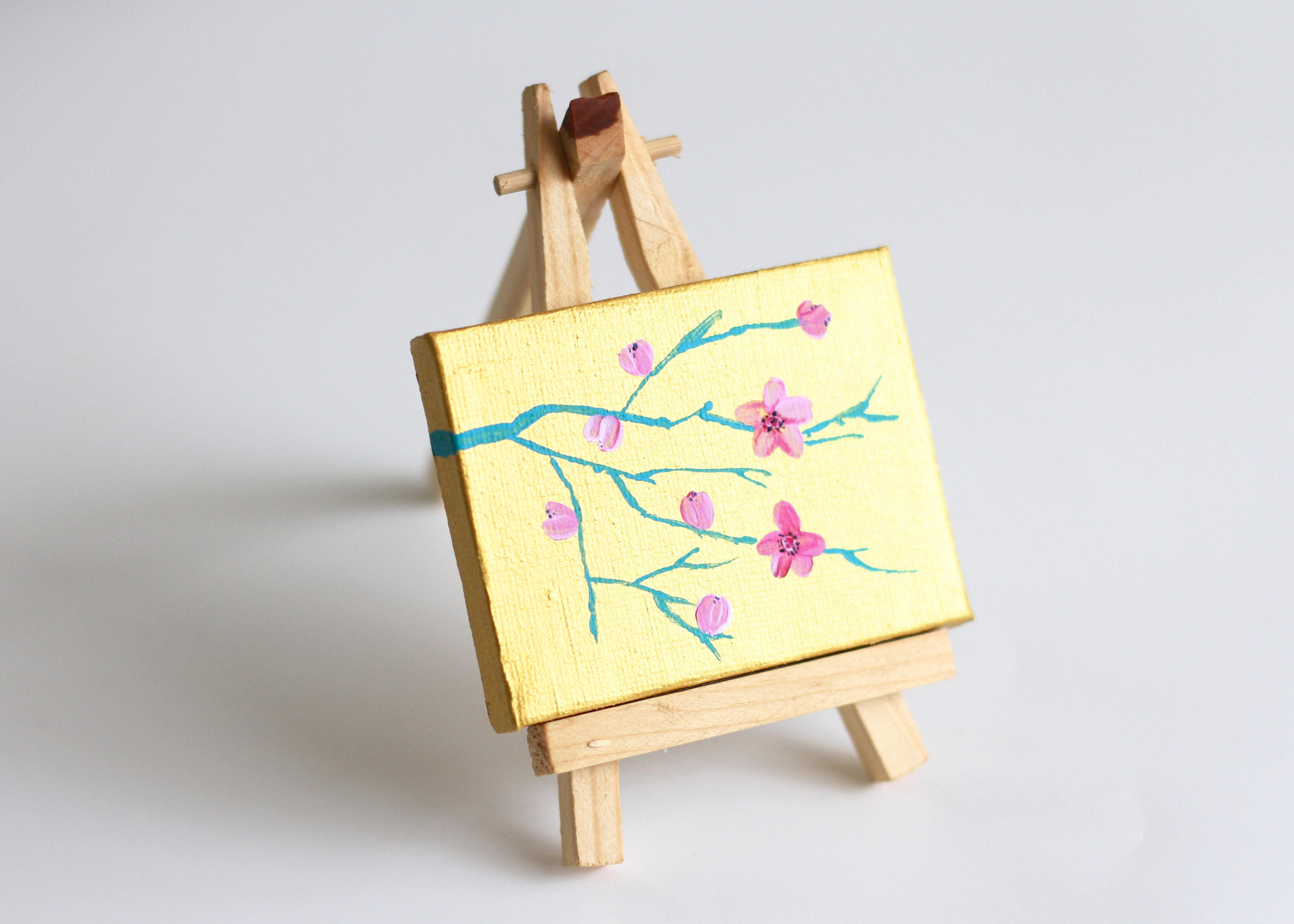 Flower Painting Miniature Art Mini Flower Art Miniature