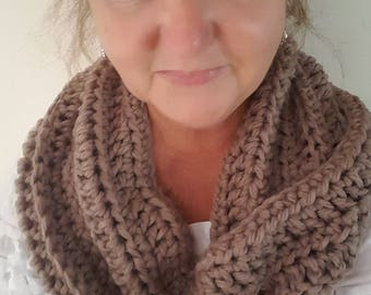 Crochet womans infinity  cowl/ ladies scarf/ winter fashion