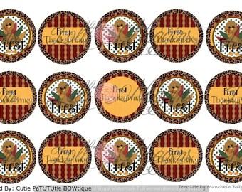 Fall / Thanksgiving  1 inch Digital Bottle Cap file