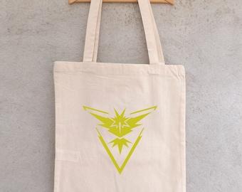 Tote Bag Pokémon GO team Intuition - team Instinct - grocery - bag beach bag