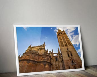 Seville Cathedral, Seville, Seville Spain, Seville Print, Spain Photo, Travel Photography, Europe Photography, Wall Art, Architecture