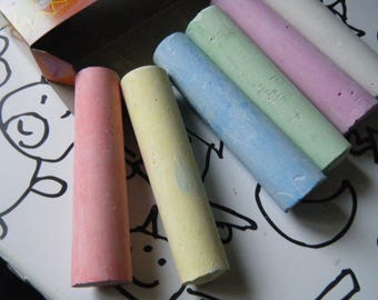 set of 6 big chalk sidewalk or street for playing outside