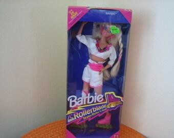 Vintage Original 1991 Mattel Rollerblade Barbie Doll, Flashing Lights Skates - New Old Stock Barbie Doll