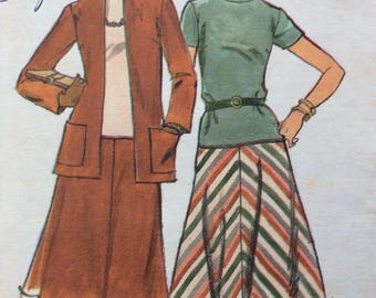 Butterick 4351 misses dress and jacket size 38-40 bust 42 - 44 vintage 1970's sewing pattern  Uncut  Factory folds