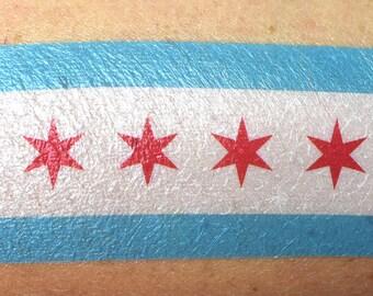 Chicago Flag Temporary Tattoo