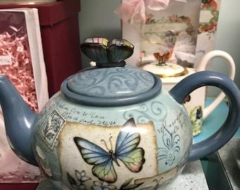 Mariposa Garden Tea Pot