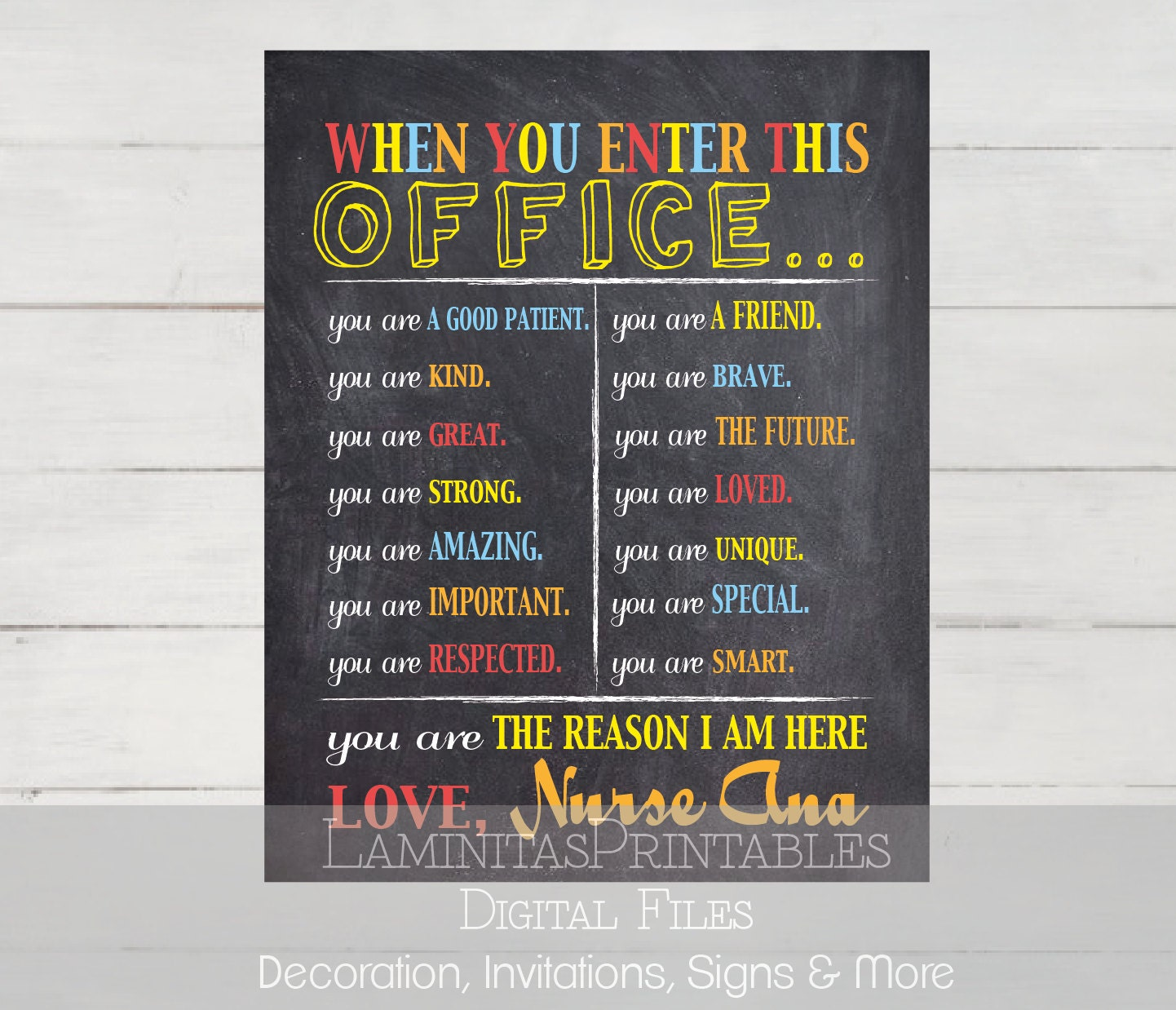 Modern Classroom Pdf : School nurse decor sign