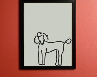 King Poodle Print