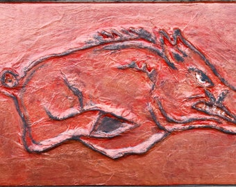 Razorback Hog Faux Tile Wall Art
