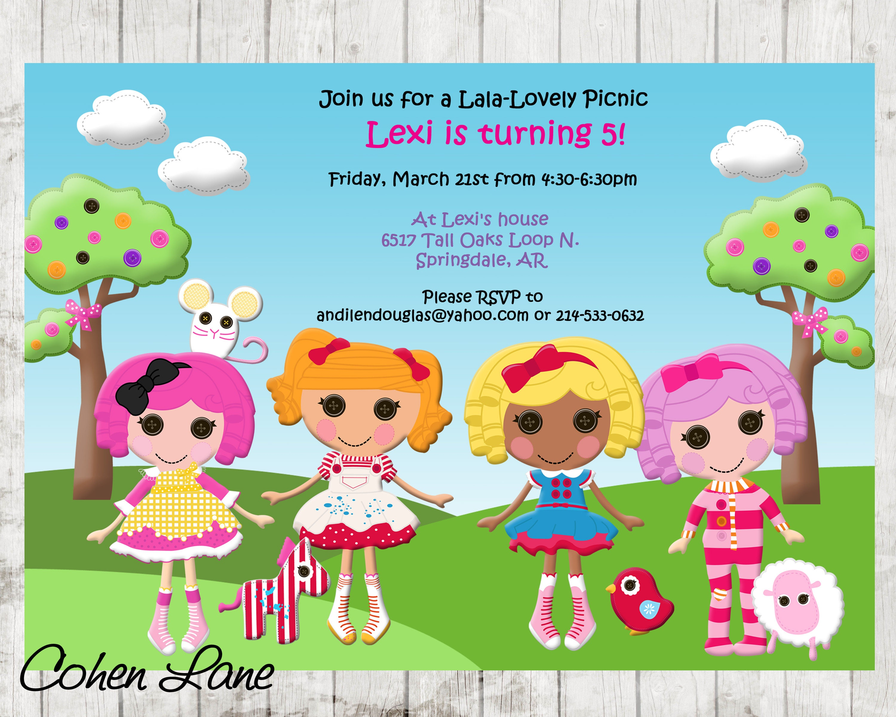 Lalaloopsy Invitation Lalaloopsy Birthday Party Invite
