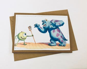 Monsters Inc - Stitched Greeting Card and Envelope - Blank