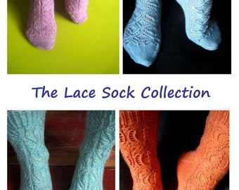 The Lace Socks Collection E-Book of Knitting Patterns - Instant Download PDF