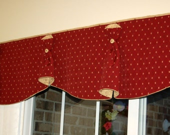 "BUNNY NO EARS 2 Hidden Rod Pocket® Custom Window Valance to fit 71""- 81"""" window, Made with your fabrics, my labor and lining"