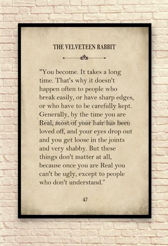 how to make a velveteen rabbit