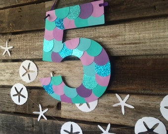 Mermaid Inspired Party Paper Sign - Mermaid Party, Under the Sea Party Decorations, Beach Party, Birthday Party, Baby Shower, Photo Prop