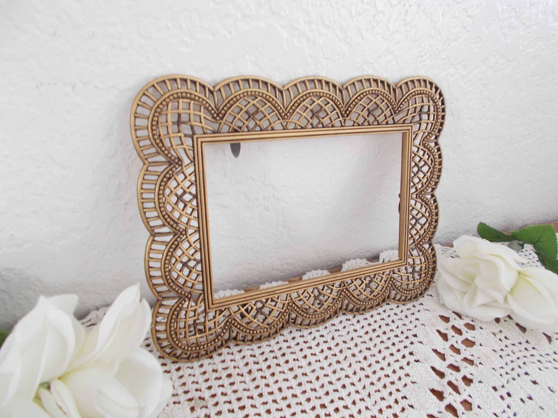 Cuadro oro Vintage marco 4 x 6 foto decoración arrojadas Hollywood ...