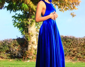 Goddess royal blue dress